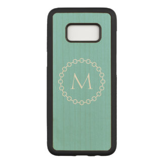 Chain Link Ring Circle Monogram Carved Samsung Galaxy S8 Case