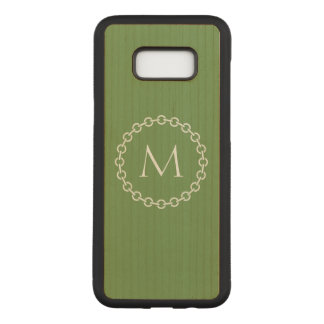 Chain Link Ring Circle Monogram Carved Samsung Galaxy S8+ Case
