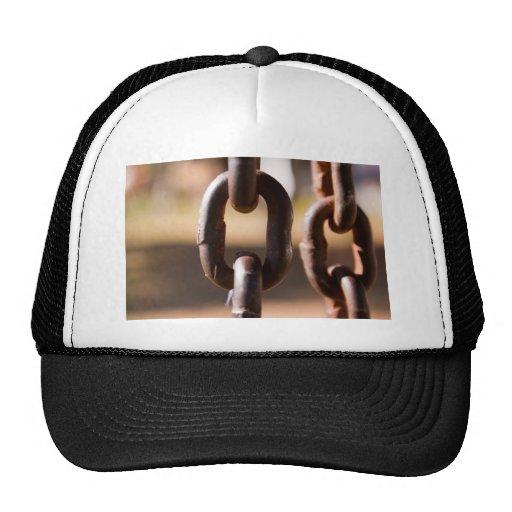 Chain links mesh hats