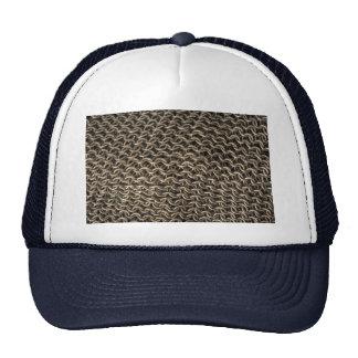 Chain mail mesh hats