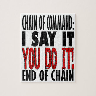 Chain of Command Flow Chart Jigsaw Puzzle