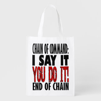 Chain of Command Flow Chart Reusable Grocery Bag