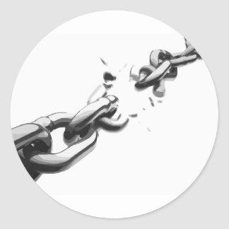 Chain of Freedom Broken Classic Round Sticker