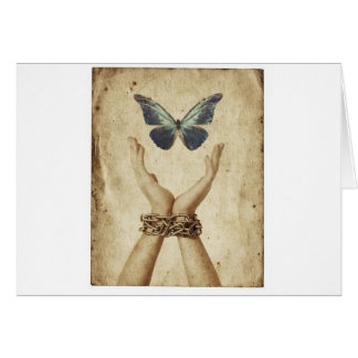 Chained Butterfly Card