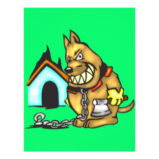Chained Dog 21.5 Cm X 28 Cm Flyer