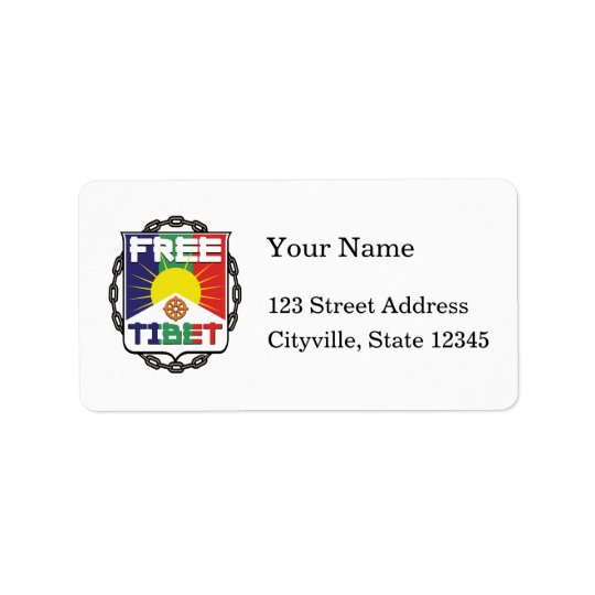 Chained Free Tibet Address Label