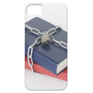 Chained stack of books case for the iPhone 5