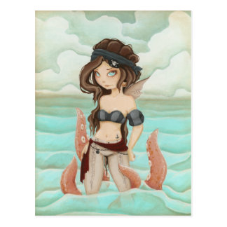 Chained to the Sea - Pirate fairy post card