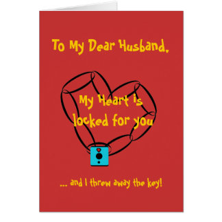 chainheart, To My Dear Husband,, My Heart is lo... Card