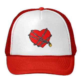 Chains and heart mesh hats