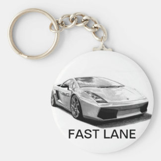CHAINS BASIC ROUND BUTTON KEY RING