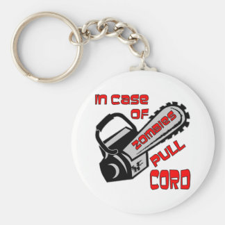 Chainsaw In Case Of Zombies Pull Cord Key Ring