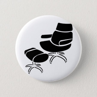 Chair and Footstool Set 6 Cm Round Badge