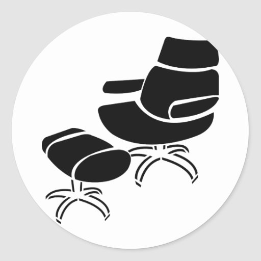 Chair and Footstool Set Stickers