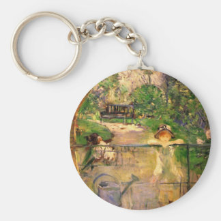 Chair in the garden by Berthe Morisot Key Chains