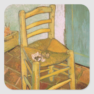 Chair of Van Gogh Square Sticker