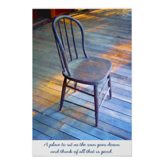 Chair on a Porch Poster