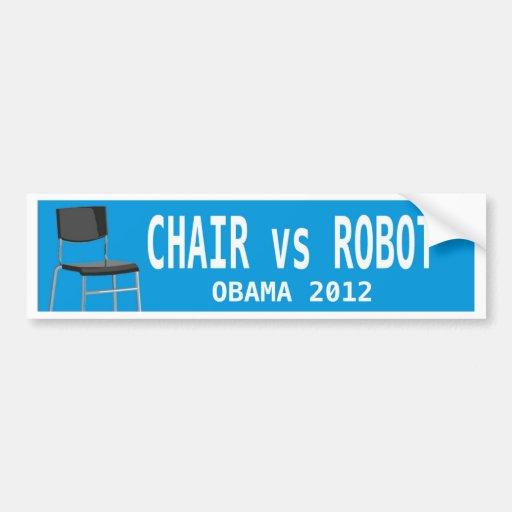 CHAIR vs ROBOT Bumper Sticker