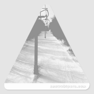 chairlift basic triangle sticker