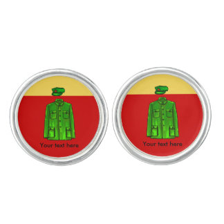 Chairman Mao Zhongshan suit Cufflinks