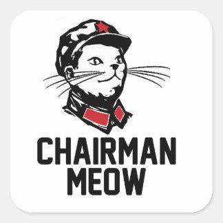 Chairman Meow (Mao) Design Square Sticker
