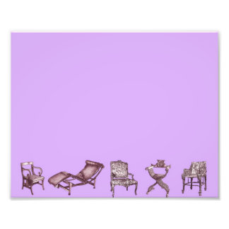 Chairs in a light lilac pink photo