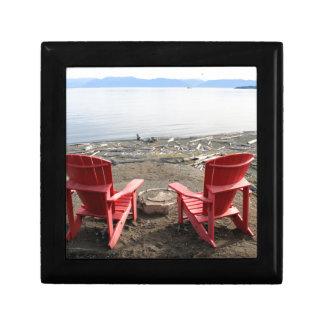 chairs on beach gift box