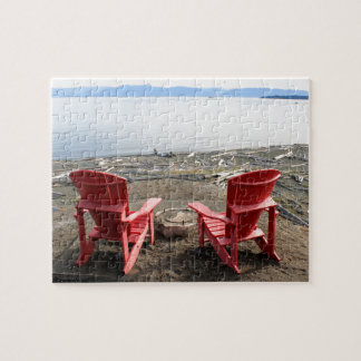 chairs on beach jigsaw puzzle