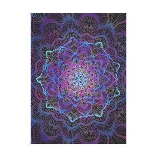Chakra Blossom, boho, new age, spiritual Canvas Print