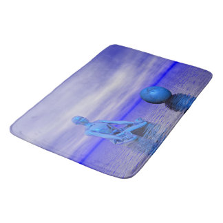 chakra blue and landscape bath mats