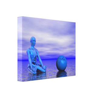 chakra blue and landscape canvas print