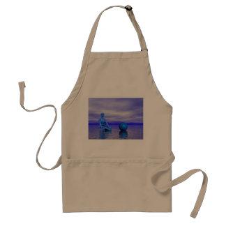 chakra blue and landscape standard apron