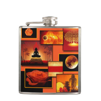 Chakra Collage Hip Flask