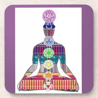CHAKRA diagram Yoga Meditation Peace NVN630 FUN Coaster
