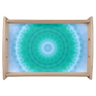 Chakra Energy 2 (green & blue) Serving Tray