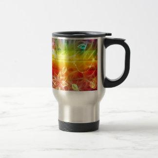Chakra flower energy art by healing love travel mug