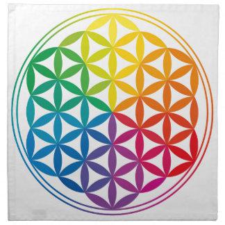 Chakra Flower Of Life Grid Cloth