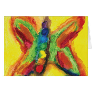Chakra Flutterbys energetic greeting card