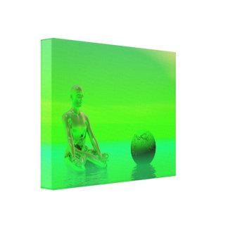 chakra green canvas print