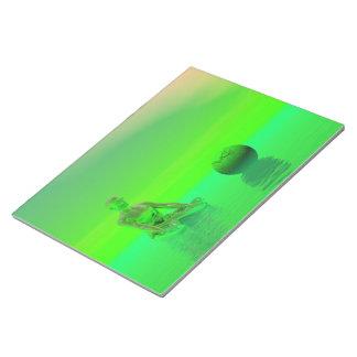 chakra green notepad