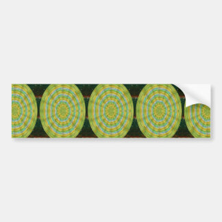 CHAKRA Green Wheel Crystal Beads Stone FUN GIFTS Bumper Sticker