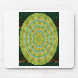 CHAKRA Green Wheel Crystal Beads Stone FUN GIFTS Mouse Pad