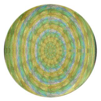 CHAKRA Green Wheel Crystal Beads Stone FUN GIFTS Dinner Plate