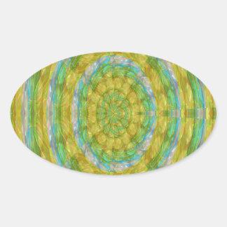 CHAKRA Green Wheel Crystal Beads Stone FUN GIFTS Sticker