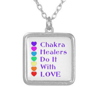 Chakra Healers Do It With Love Silver Plated Necklace