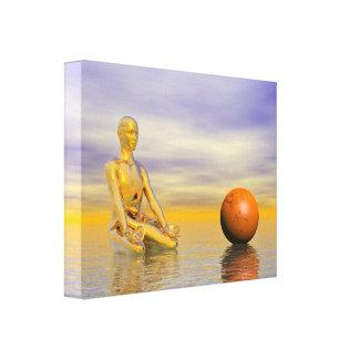 chakra orange canvas print