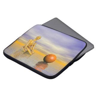 chakra orange laptop sleeve