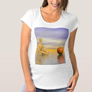 chakra orange maternity T-Shirt