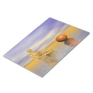 chakra orange notepad