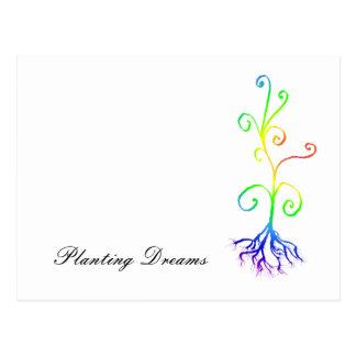chakra plant, Planting Dreams Postcard